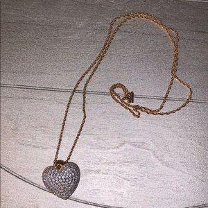 Swarovski Gold/Silver Heart Necklace